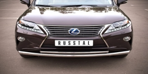 Lexus RX270/350/450 защита переднего  бампера d63/42 LRXZ-000403